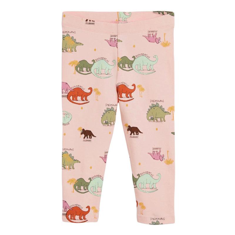 Girls Elastic Trousers Stegosaurus Printed Autumn Girls Leggings