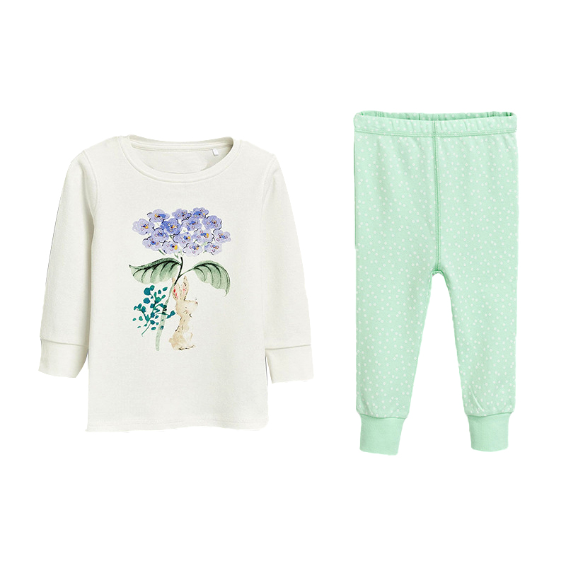 Girls  Flower Patterned Pajamas