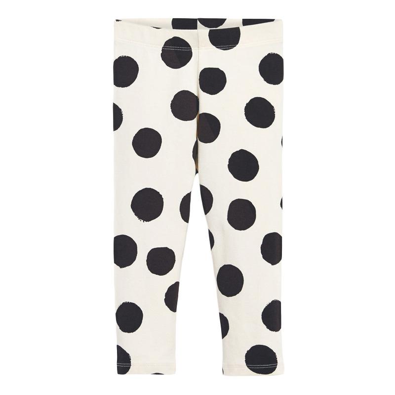 Autumn Girls Elastic Trousers Polka Dot Printed Girls Leggings