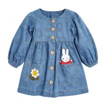 Girls long sleeves dress for kids wearing in Spring, autumn,fall printed in animal,cartoon patterns colorful flower prints