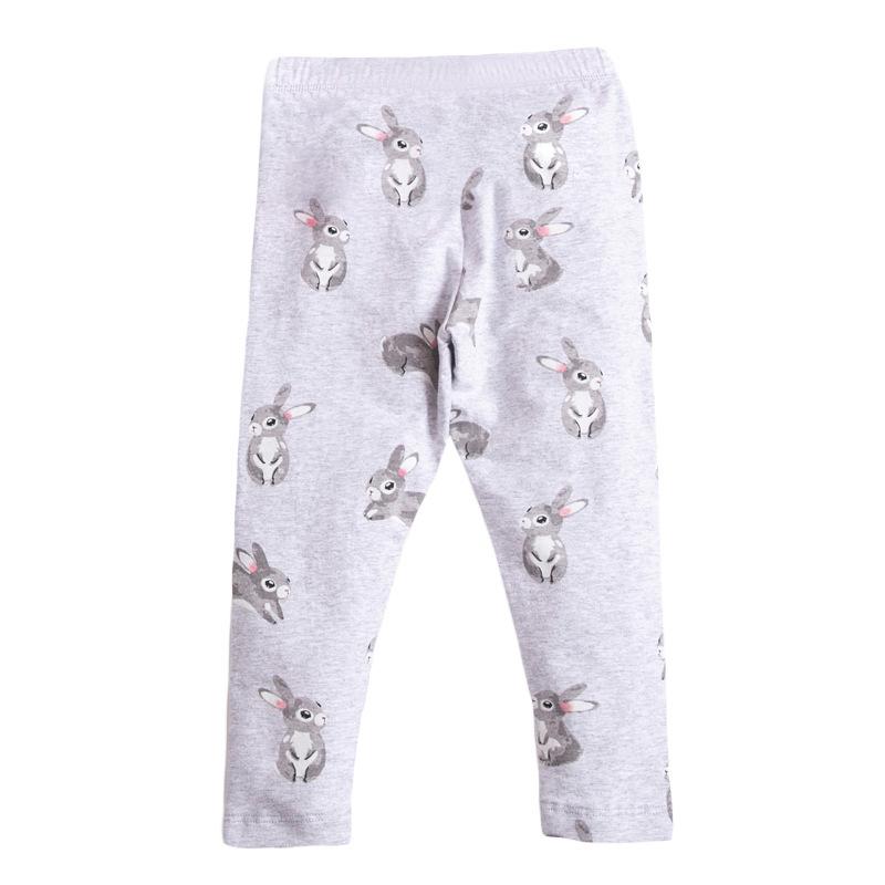 Girls Elastic Trousers Rabbits Printed Autumn Girls Leggings