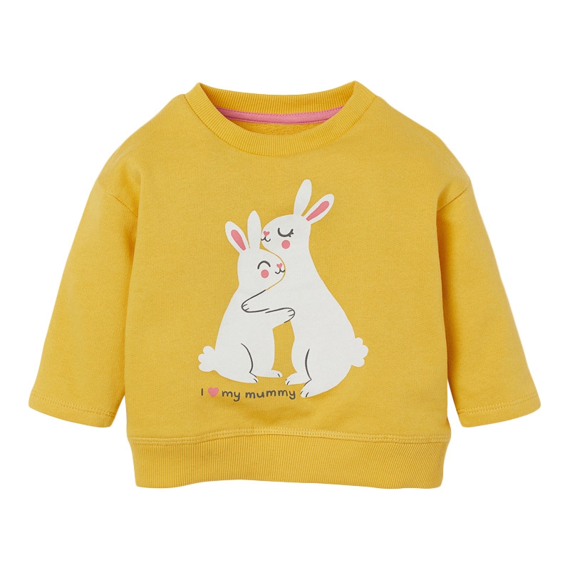 Girls Rabbit Sweater Autumn Round Neck Long Sleeve Girls Sweatshirt