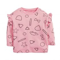 Girls sweatshirts wearing in  autumn,fall, spring printed with animal, cartoon, flowers cute and in muitlcolors.