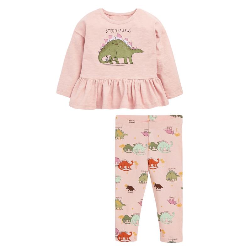 Autumn Girls Set Stegosaurus Long Sleeve Children's Set
