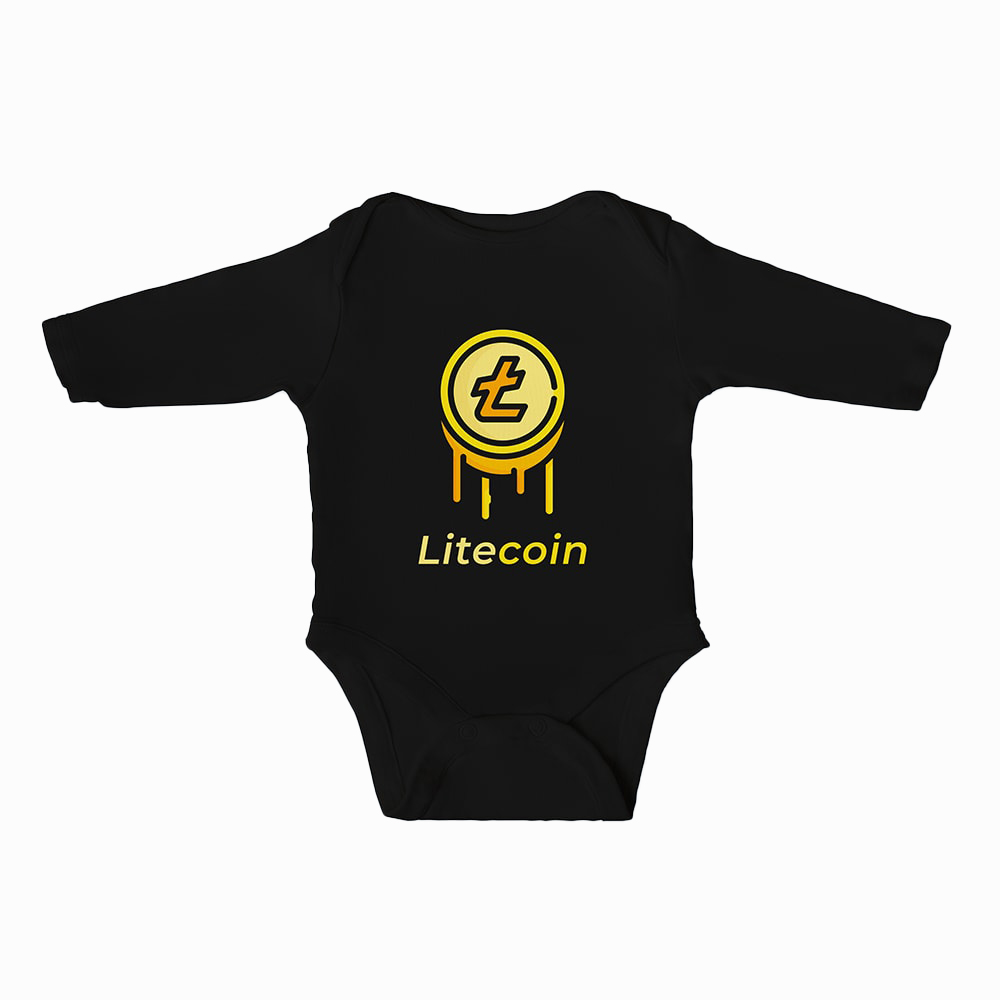 Litecoin Baby Boys Bodysuit Long Sleeves