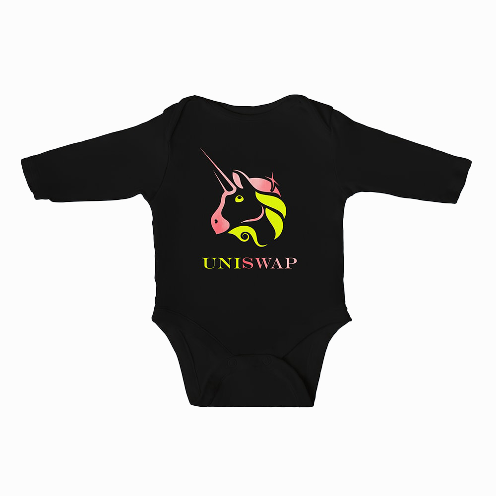 Uniswap Baby Boys Bodysuit Long Sleeves